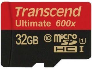 Transcend TS32GUSDHC10U1 32GB Class MicroSDHC Memory Card Price in India