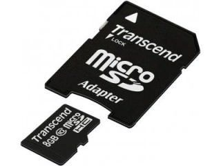 Transcend TS8GUSDHC10 8GB Class 10 MicroSDHC Memory Card Price in India