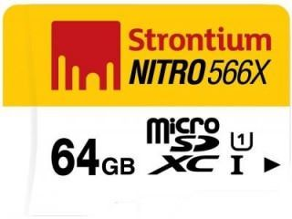 Strontium SRN64GTFU1R 64GB Class 10 MicroSDXC Memory Card Price in India