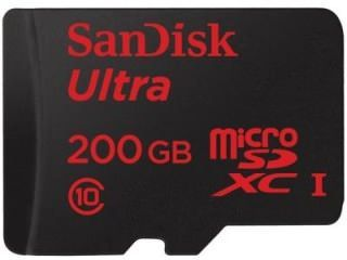 SanDisk SDSDQUAN-200G-G4A 200GB Class 10 MicroSDXC Memory Card Price in India