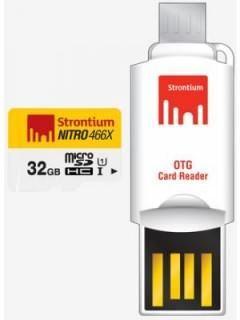 Strontium Nitro 466X 32GB Class 10 MicroSDHC Memory Card Price in India
