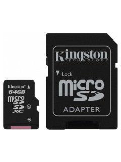 Kingston SDCX10/64GB 64GB Class 10 MicroSDXC Memory Card Price in India