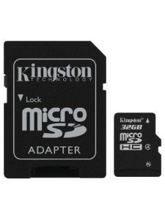 Kingston SDC4/32GB 32GB Class 4 MicroSDHC Memory Card Price in India