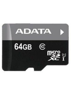 AData AUSDX64GUICL10-RM3BKBL 64GB Class 10 MicroSDXC Memory Card Price in India