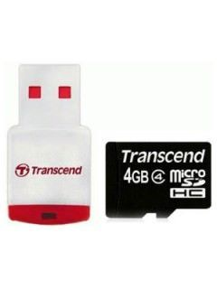 Transcend TS4GUSDHC4-P3 4GB Class 4 MicroSDHC Memory Card Price in India