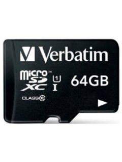 Verbatim 44014 64GB Class 10 MicroSDXC Memory Card Price in India