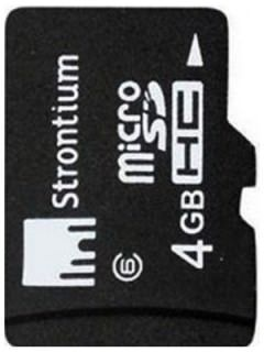 Strontium SR4GTFC6R 4GB Class 6 MicroSDHC Memory Card Price in India