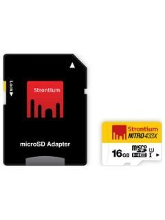 Strontium SRN16GTFU1 16GB Class 10 MicroSDHC Memory Card Price in India