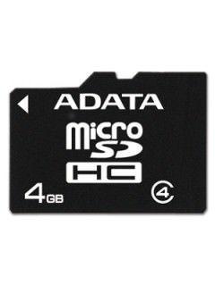 AData AUSDH4GCL4-R 4GB Class 4 MicroSDHC Memory Card Price in India