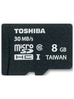 Toshiba SD-C008UHS1 8GB Class 10 MicroSDHC Memory Card Price in India
