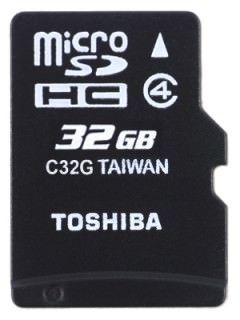 Toshiba SD-C32GJ 32GB Class 4 MicroSD Memory Card Price in India