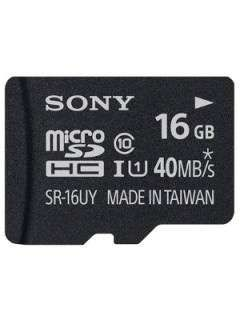 Sony SR-16UYA/T1 16GB Class 10 MicroSDHC Memory Card Price in India