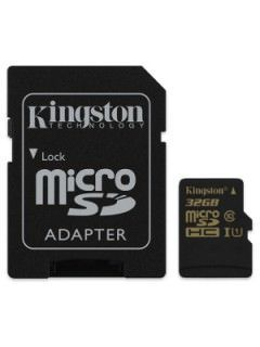 Kingston SDCA10/32GB 32GB Class 10 MicroSDHC Memory Card Price in India