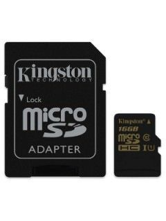 Kingston SDCA10/16GB 16GB Class 10 MicroSDHC Memory Card Price in India