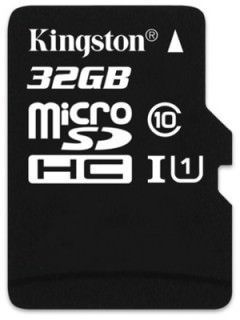 Kingston SDC10/32GBSP 32GB Class 10 MicroSDHC Memory Card Price in India