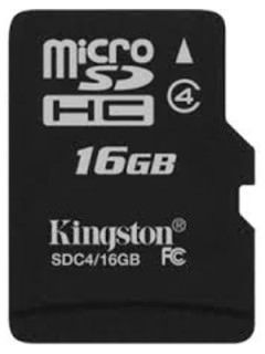 Kingston SDC4/16GBSP 16GB Class 4 MicroSDHC Memory Card Price in India