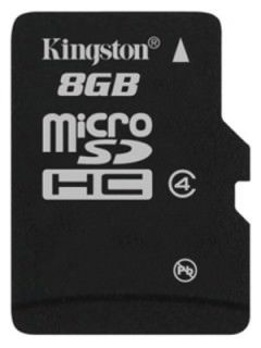 Kingston SDC4/8GBSP 8GB Class 4 MicroSDHC Memory Card Price in India