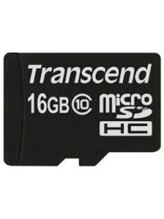 Transcend TS16GUSDC10 16GB Class 10 MicroSDHC Memory Card Price in India