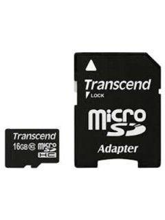Transcend TS16GUSDHC10 16GB Class 10 MicroSDHC Memory Card Price in India