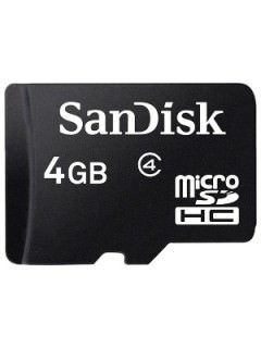 SanDisk SDSDQ-004G 4GB Class 4 MicroSDHC Memory Card Price in India