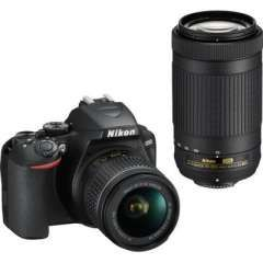Nikon D3500 DSLR Camera (AF-P DX 18-55mm f/3.5-f/5.6G VR and AF-P DX 70-300mm f/4.5-f/6.3G ED Dual Kit Lens) Price in India