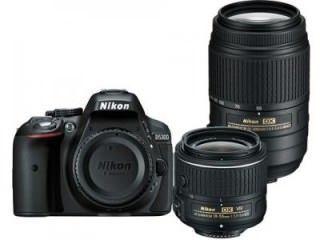 Nikon D5300 DSLR Camera (AF-S 18-55mm VR II and AF-S 55-300mm VR Kit Lens) Price in India