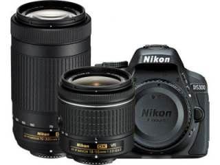 Nikon D5300 DSLR Camera (AF-P DX 18-55mm f/3.5-f/5.6G VR and AF-P DX 70-300mm f/4.5-f/6.3G ED VR Kit Lens) Price in India