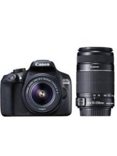 Canon EOS 1300D Double Zoom DSLR Camera (EF-S 18-55mm f/3.5-f/5.6 IS II and EF-S 55-250mm f/4-f/5.6 IS II Dual Kit Lens) Price in India