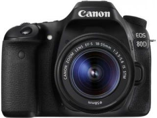 Canon EOS 80D DSLR Camera (EF-S 18-55mm f/3.5-f/5.6 IS STM Kit Lens) Price in India