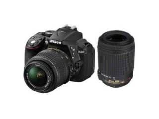 Nikon D5300 DSLR Camera (AF-S 18-55mm VR II and AF-S 55-200mm VR II Kit Lenses) Price in India