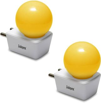 Jainex 0.5W Round B22 Night Bulb (Yellow) Price in India