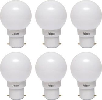 Jainex 0.5W Round B22 Night Bulb (White, Pack of 6) Price in India