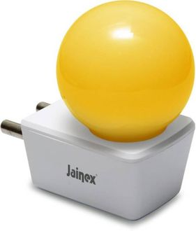 Jainex 0.5W Round Plug & Play Night Bulb (Yellow) Price in India