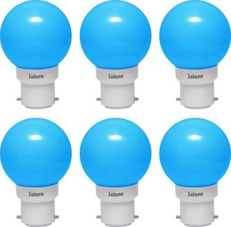 Jainex 0.5W Round B22 Night Bulb (Blue, Pack of 6) Price in India