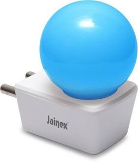 Jainex 0.5W Round Plug & Play Night Bulb (Blue) Price in India