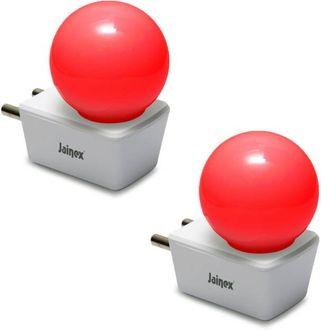 Jainex 0.5W Round Plug & Play Night Bulb (Red, Pack of 2) Price in India