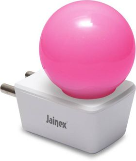 Jainex 0.5W Round Plug & Play Night Bulb (Pink) Price in India