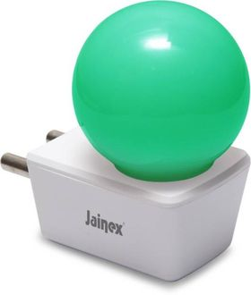 Jainex 0.5W Round Plug & Play Night Bulb (Green) Price in India