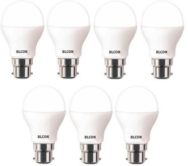 Blcon 9W Round B22 LED Bulb (White, Pack of 7) Price in India