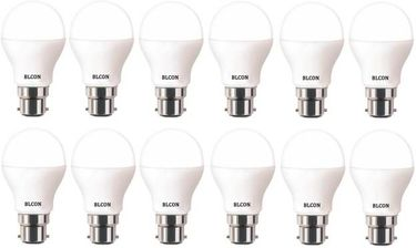 Blcon 9W Round B22 LED Bulb (White, Pack of 12) Price in India