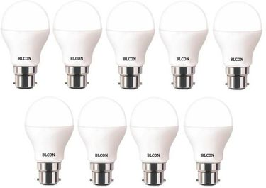 Blcon 9W Round B22 LED Bulb (White, Pack of 9) Price in India