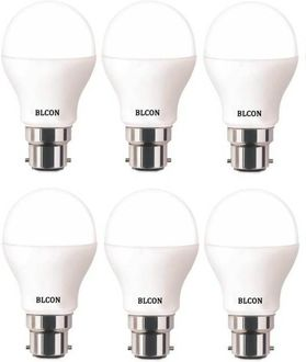 Blcon 9W Round B22 LED Bulb (White, Pack of 6) Price in India