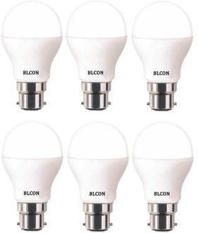 Blcon 7W Round B22 LED Bulb (White, Pack of 6) Price in India