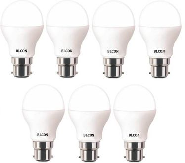Blcon 7W Round B22 LED Bulb (White, Pack of 7) Price in India