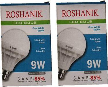 Roshanik 9W Standard B22 LED Bulb (White, Pack of 2) Price in India