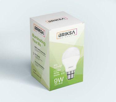 BRIKSA 9W Round B22 LED Bulb (White) Price in India