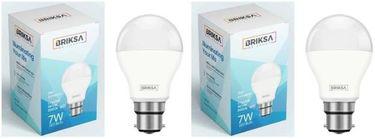 BRIKSA 7W Round B22 LED Bulb (White, Pack of 2) Price in India