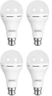 BRIKSA 9W Round B22 Inverter Bulb (White, Pack of 4) Price in India