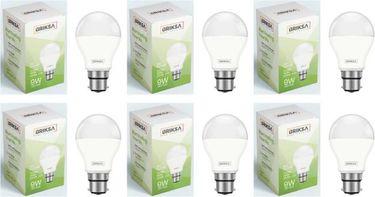 BRIKSA 9W Round B22 LED Bulb (White, Pack of 6) Price in India