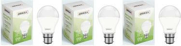 BRIKSA 9W Round B22 LED Bulb (White, Pack of 3) Price in India